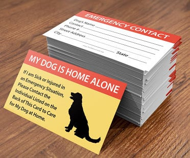 the emergency pet care card